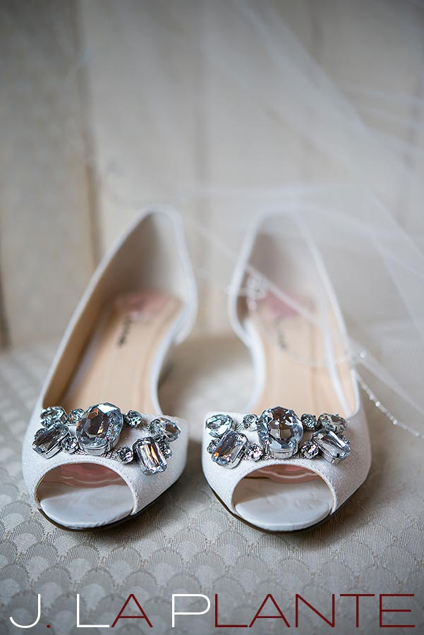 J. La Plante Photo | Brook Forest Inn Wedding | Evergreen, CO wedding photography | Wedding shoes (flat)