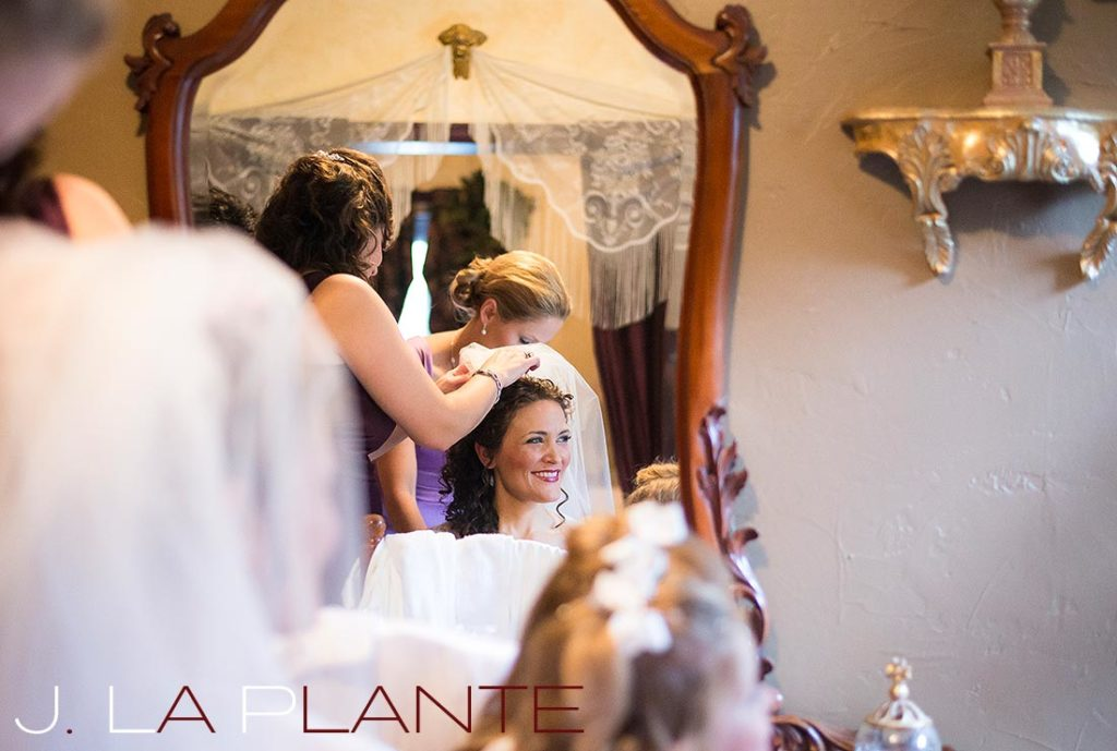 J. La Plante Photo | Brook Forest Inn Wedding | Evergreen, CO wedding photography | Bride getting ready