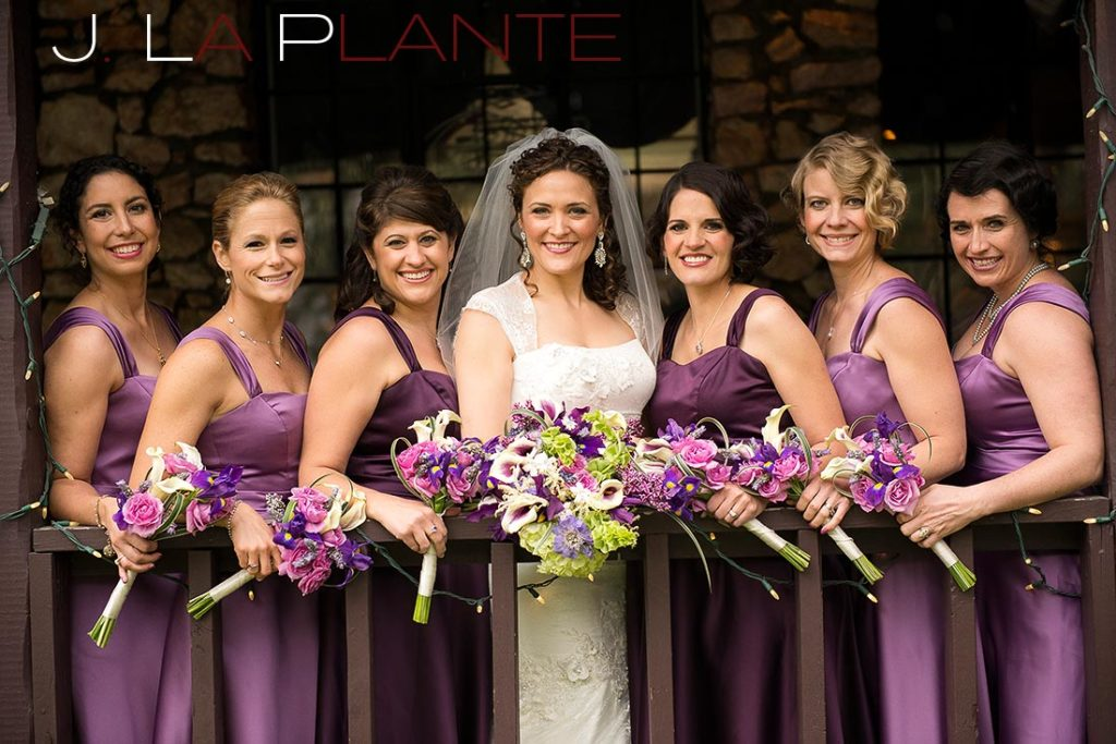 J. La Plante Photo | Brook Forest Inn Wedding | Evergreen, CO wedding photography | Bride and bridesmaids