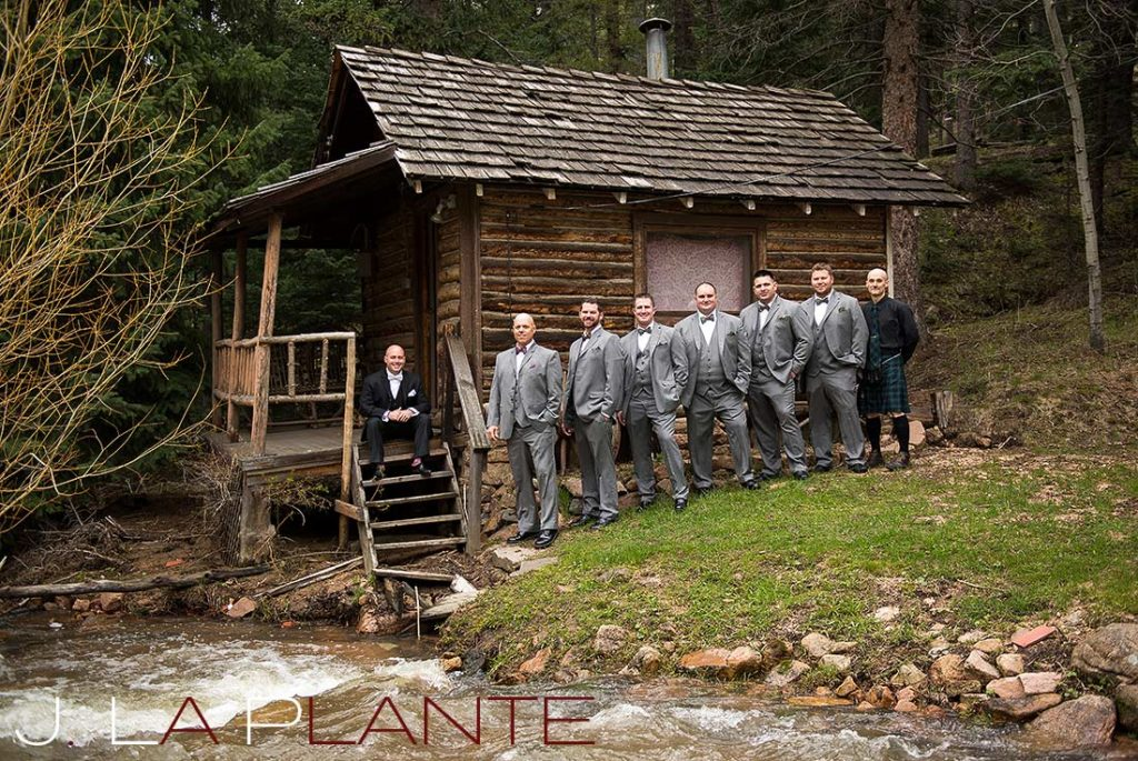 J. La Plante Photo | Brook Forest Inn Wedding | Evergreen, CO wedding photography | Groom and groomsmen
