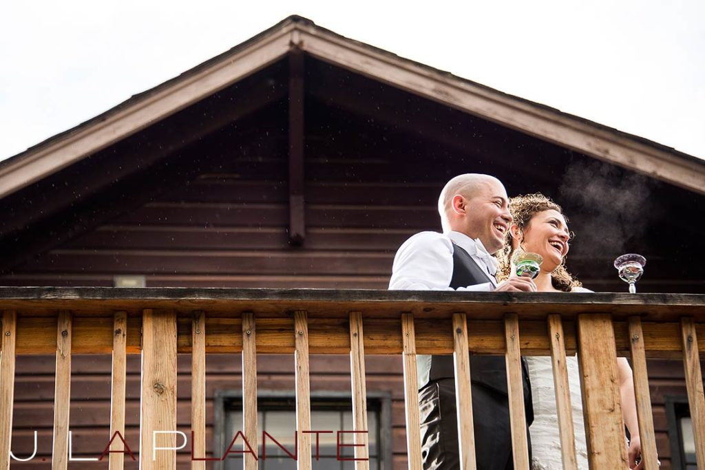 J. La Plante Photo | Brook Forest Inn Wedding | Evergreen, CO wedding photography | Bride and groom during toasts