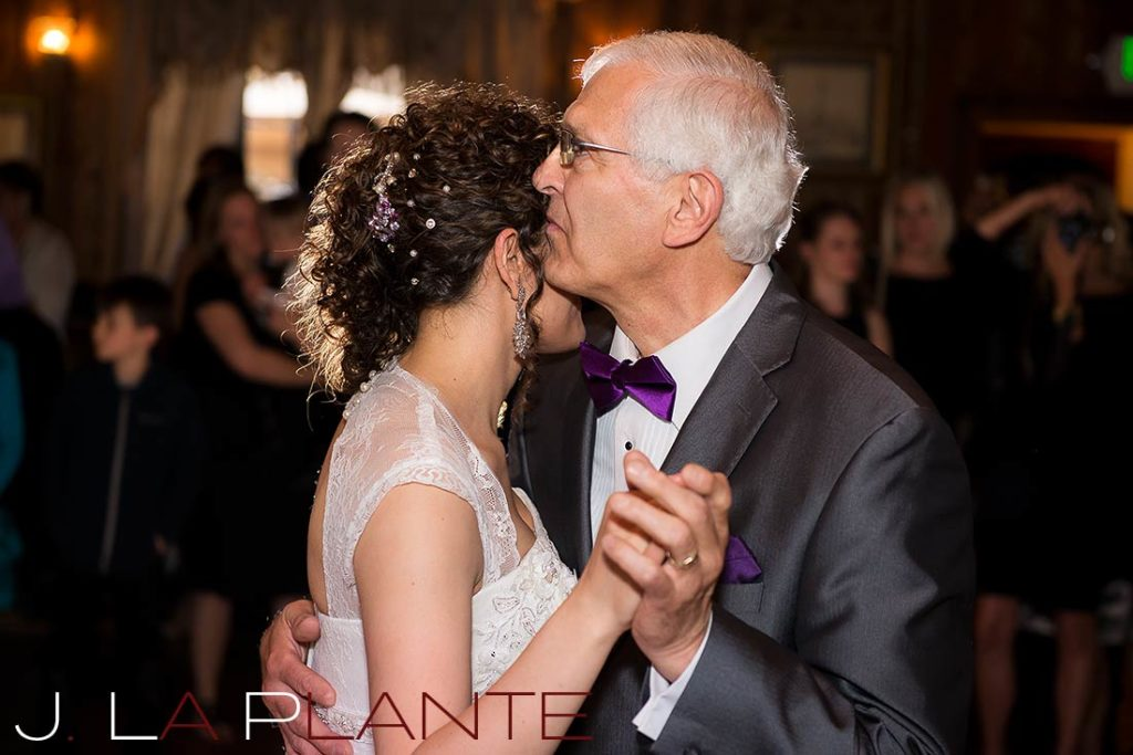 J. La Plante Photo | Brook Forest Inn Wedding | Evergreen, CO wedding photography | Bride dancing with her father
