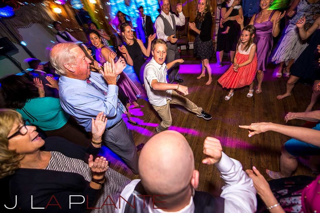 J. La Plante Photo | Brook Forest Inn Wedding | Evergreen, CO wedding photography | Guests dancing