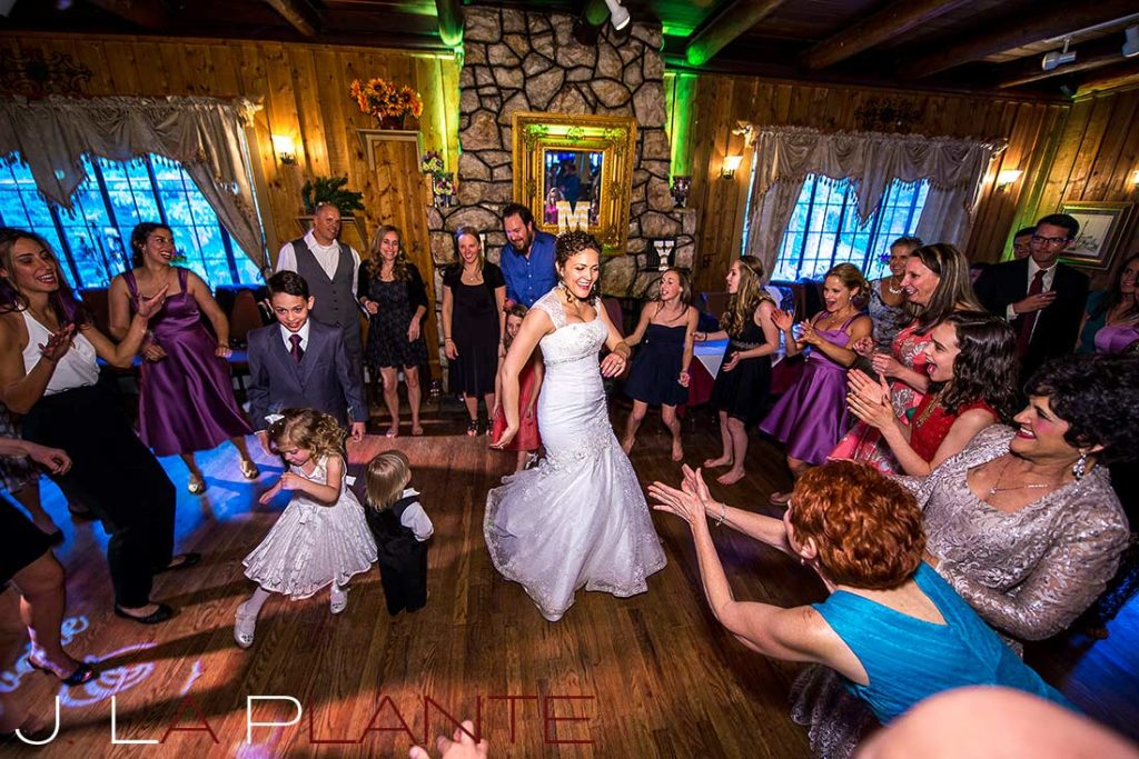 J. La Plante Photo | Brook Forest Inn Wedding | Evergreen, CO wedding photography | Bride dancing