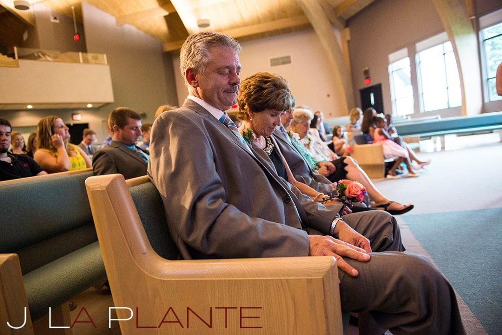 J. La Plante Photo | Kalamazoo Country Club Wedding | Destination Wedding Photography | Parents of the bride praying