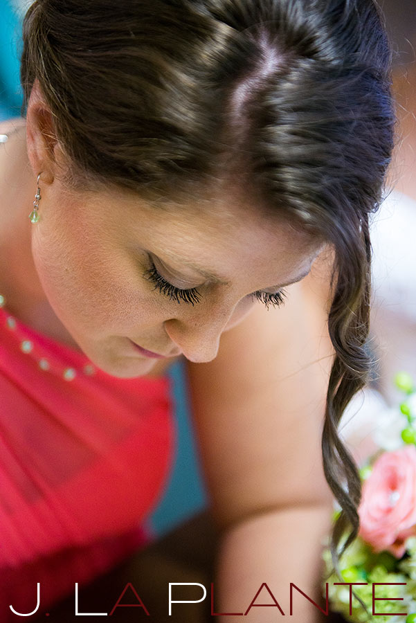J. La Plante Photo | Kalamazoo Country Club Wedding | Destination Wedding Photography | Bridesmaid signing marriage license