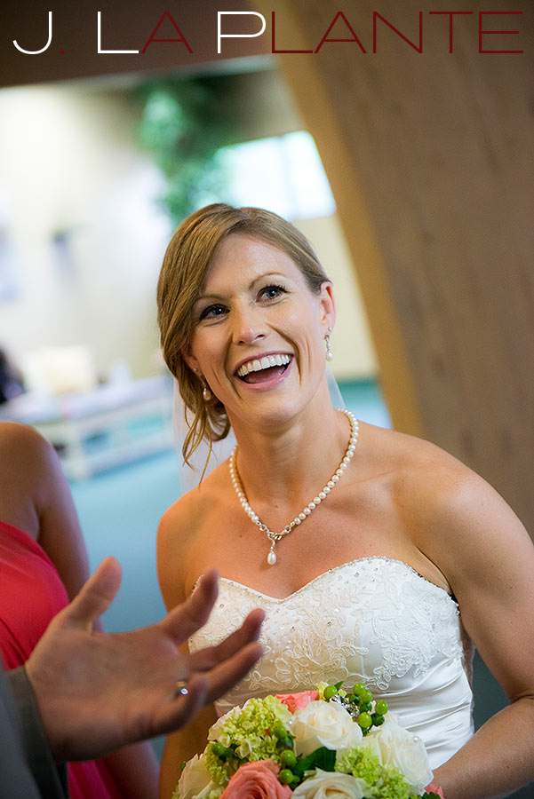 J. La Plante Photo | Kalamazoo Country Club Wedding | Destination Wedding Photography | Bride laughing