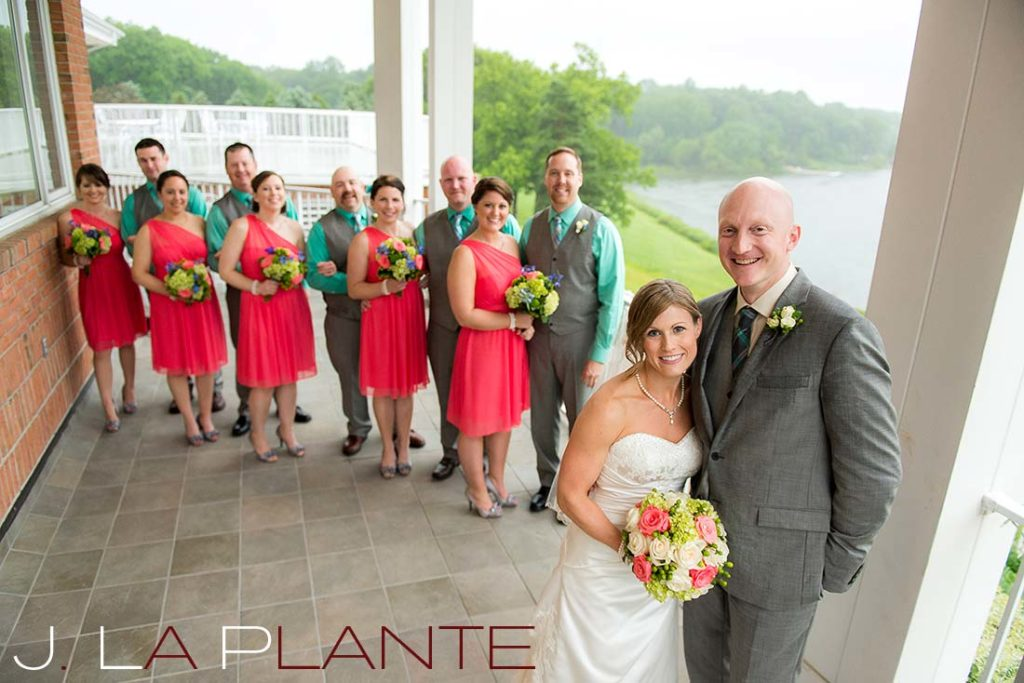 J. La Plante Photo | Kalamazoo Country Club Wedding | Destination Wedding Photography | Bride, groom and wedding party