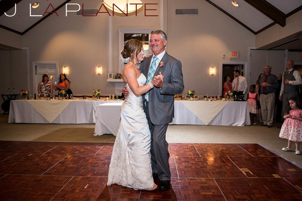 J. La Plante Photo | Kalamazoo Country Club Wedding | Destination Wedding Photography | Bride dancing with father