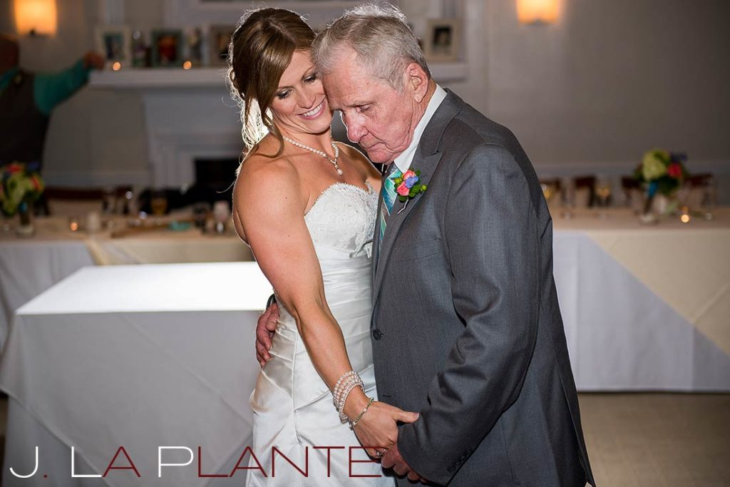 J. La Plante Photo | Kalamazoo Country Club Wedding | Destination Wedding Photography | Bride dancing with grandfather
