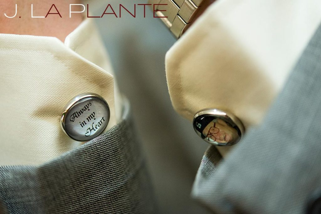J. La Plante Photo | Kalamazoo Country Club Wedding | Destination Wedding Photography | Gift for the groom: photo cufflinks