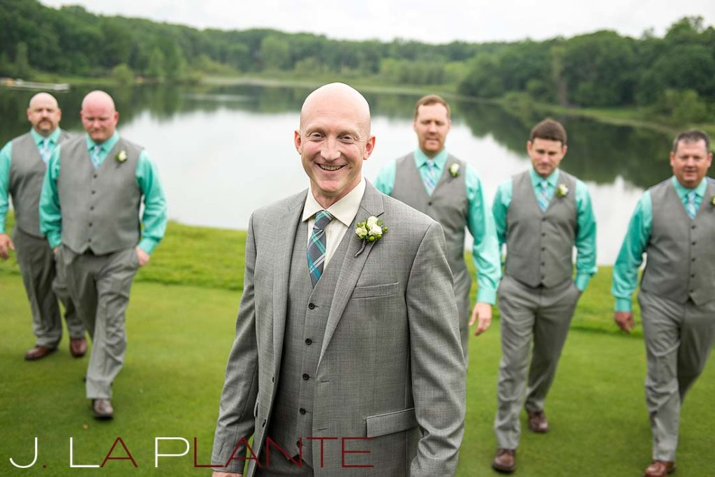 J. La Plante Photo | Kalamazoo Country Club Wedding | Destination Wedding Photography | Groom and groomsmen
