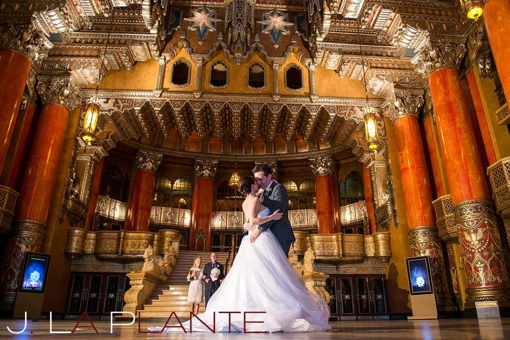 J. La Plante Photo | Fox Theatre Detroit Elopement | Destination Wedding Photography | First dance