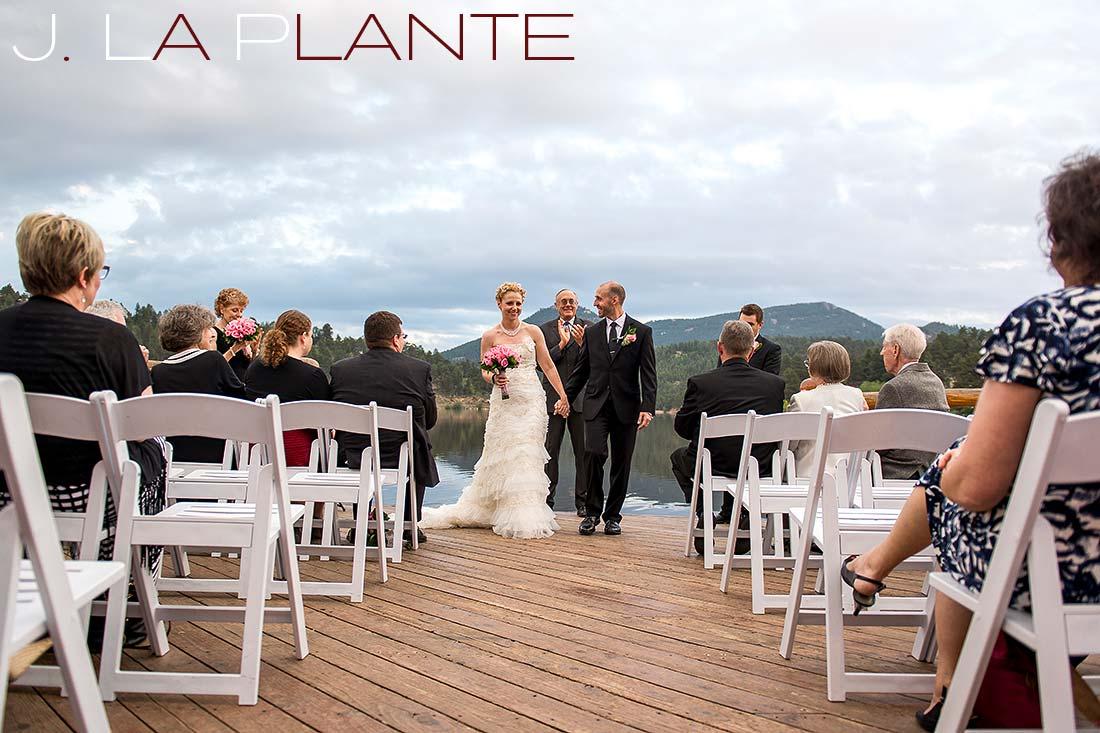 Wedding recessional | Evergreen Lakehouse wedding | Evergreen wedding photographer | J La Plante Photo