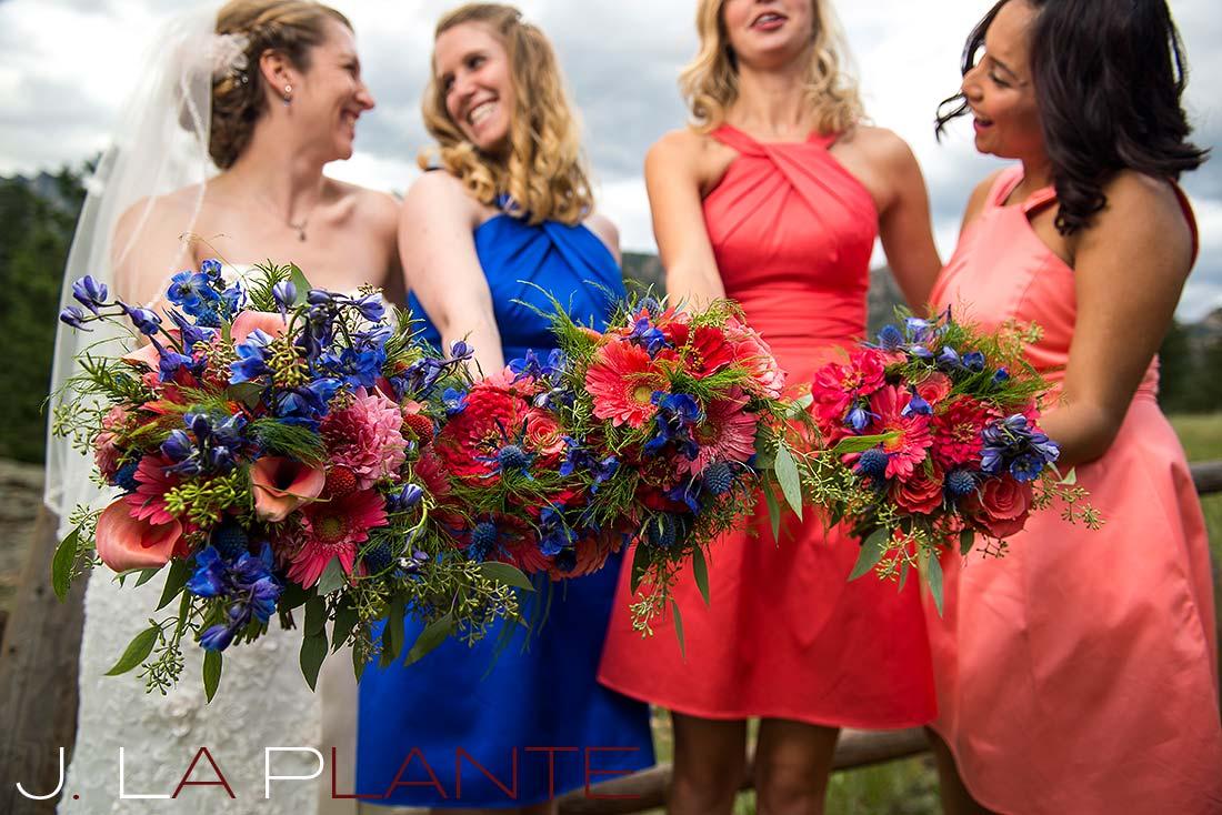 J. La Plante Photo | Colorado Rocky Mountain wedding photography | Estes Park wedding | Bridal party bouquets