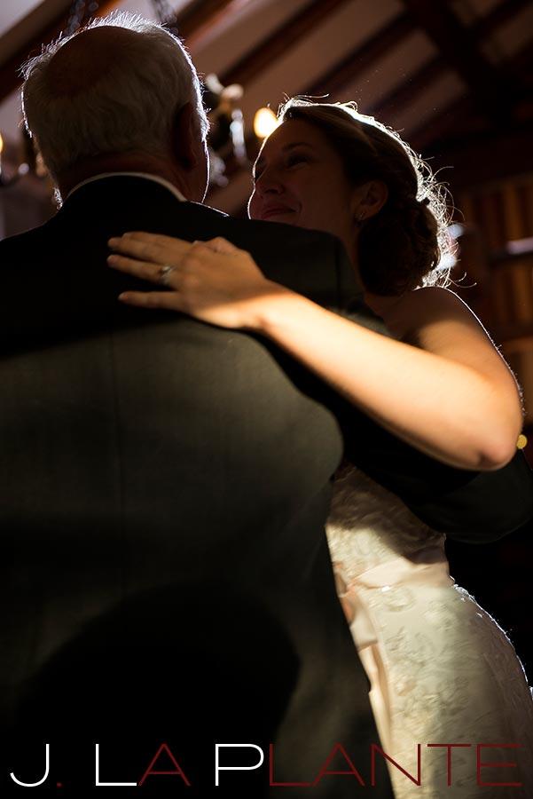 J. La Plante Photo | Colorado Rocky Mountain wedding photography | Estes Park wedding | Father daughter dance