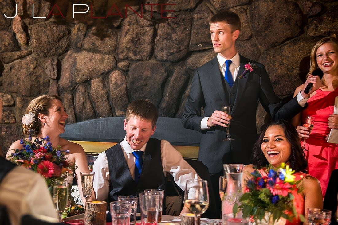 J. La Plante Photo | Colorado Rocky Mountain wedding photography | Estes Park wedding | Toasts