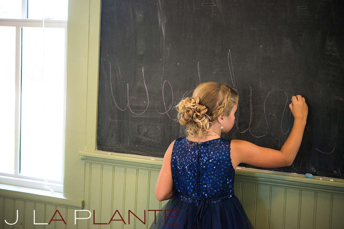 J. La Plante Photo | Denver Wedding Photography | Chatfield Botanic Gardens wedding | Junior bridesmaid