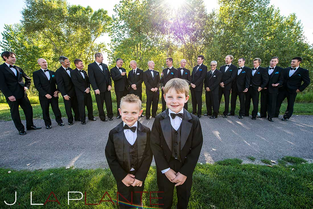 J. La Plante Photo | Denver Wedding Photography | Chatfield Botanic Gardens wedding | Ring bearers and groomsmen