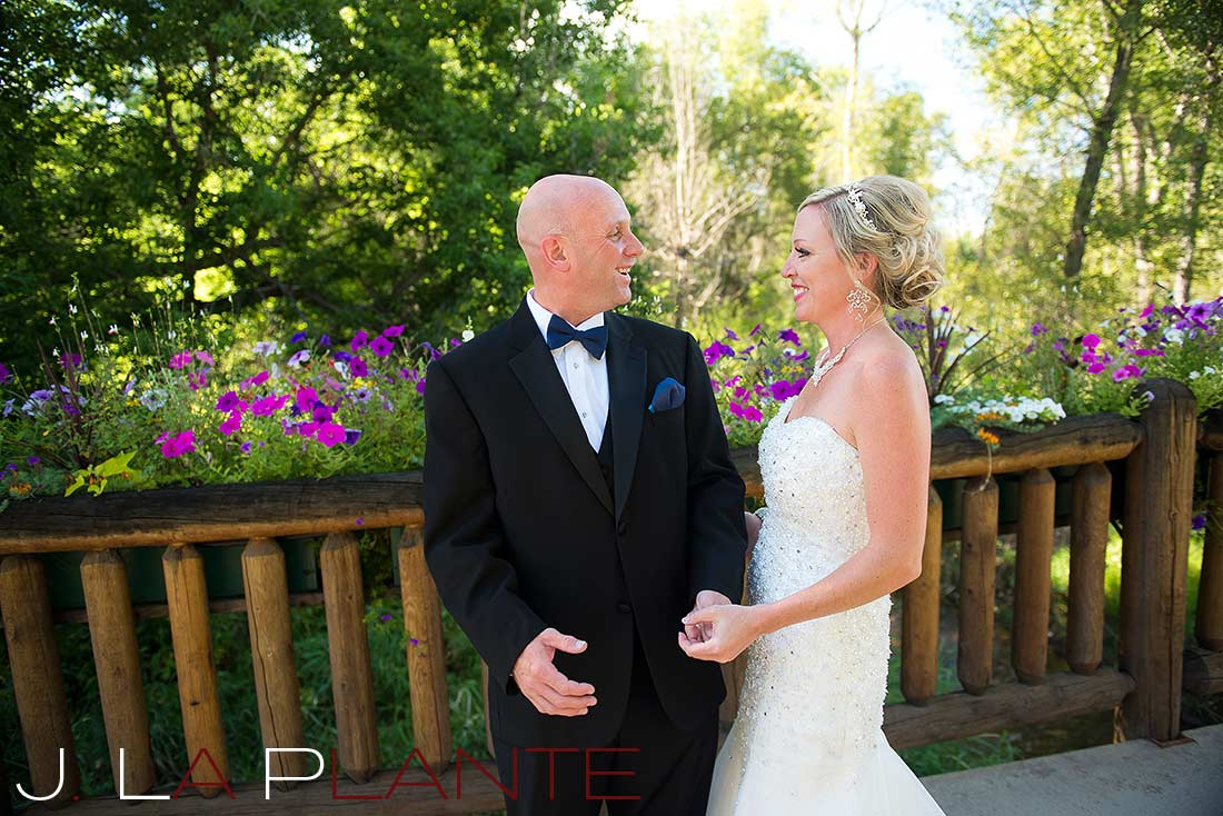 J. La Plante Photo   Denver Wedding Photography   Chatfield Botanic Gardens wedding   First look
