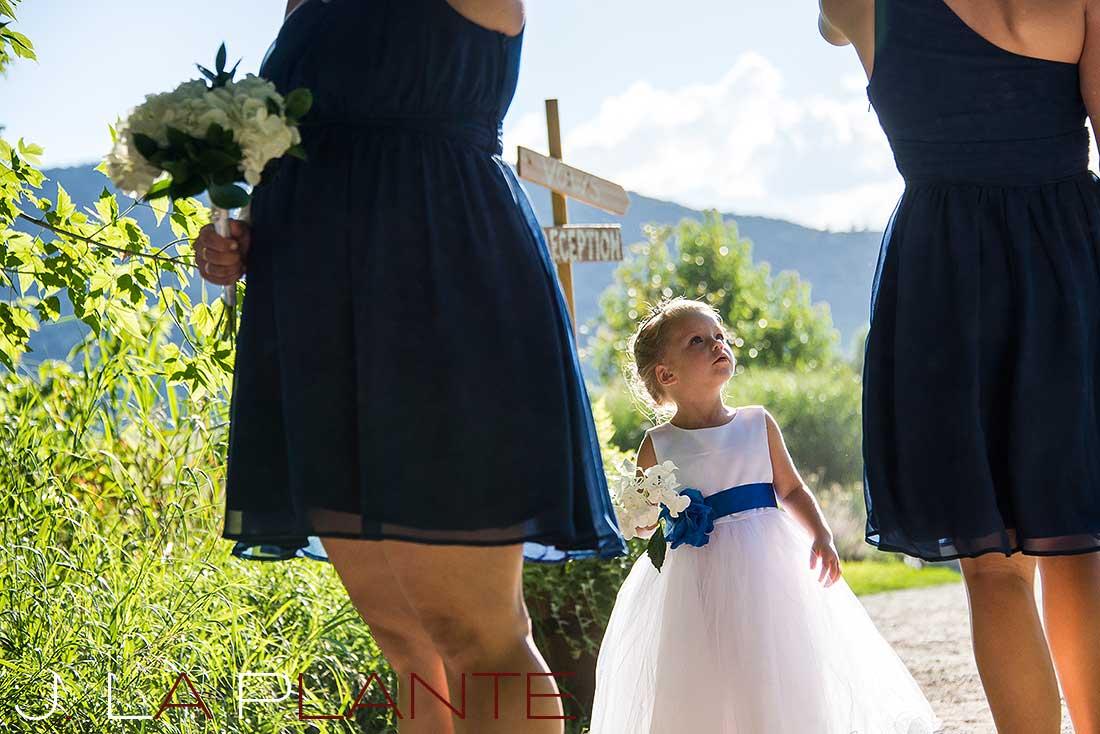 J. La Plante Photo   Denver Wedding Photography   Chatfield Botanic Gardens wedding   Flower girl