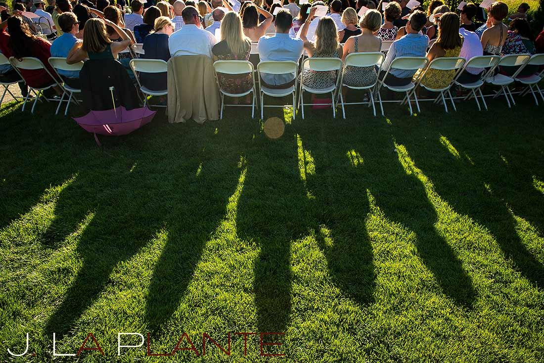 J. La Plante Photo | Denver Wedding Photography | Chatfield Botanic Gardens wedding | Guests watching ceremony