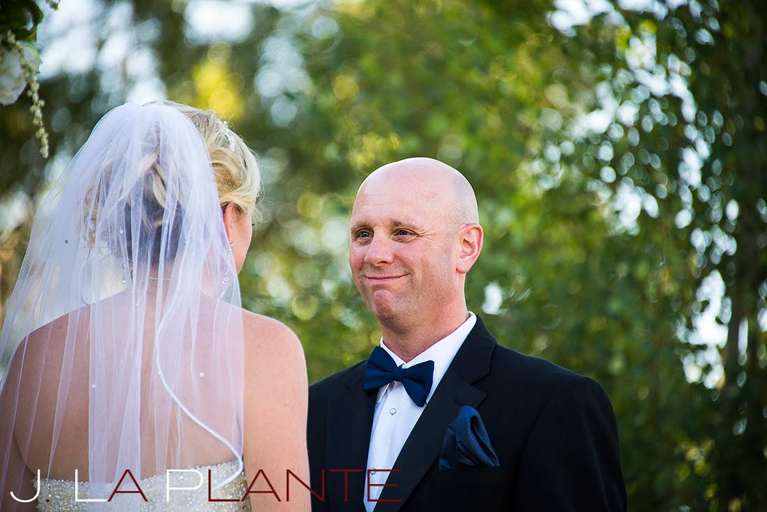 J. La Plante Photo   Denver Wedding Photography   Chatfield Botanic Gardens wedding   Bride and groom saying vows