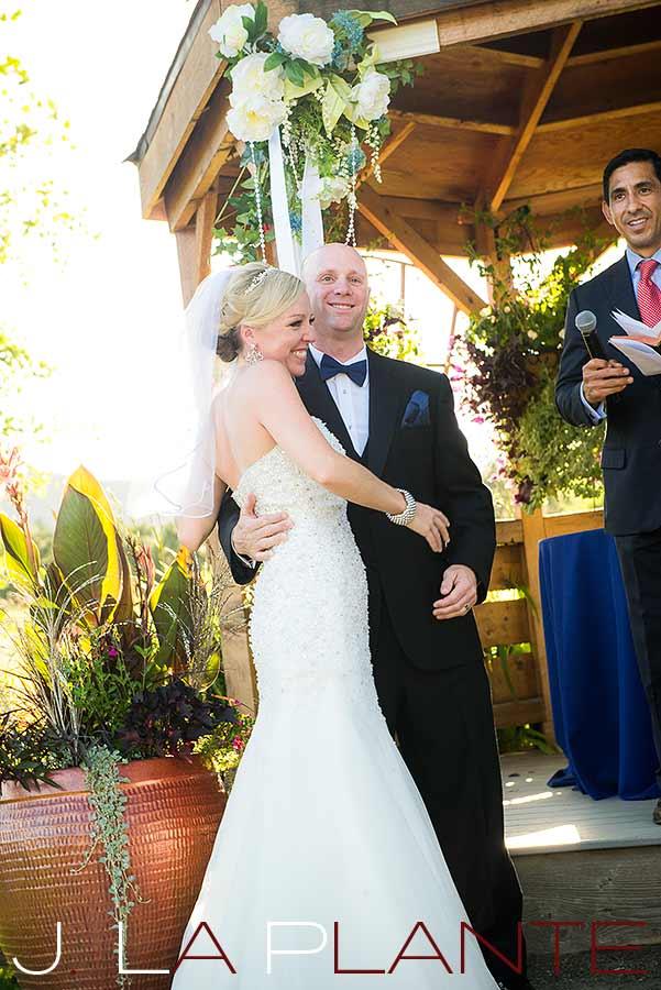 J. La Plante Photo   Denver Wedding Photography   Chatfield Botanic Gardens wedding   Bride and groom at altar