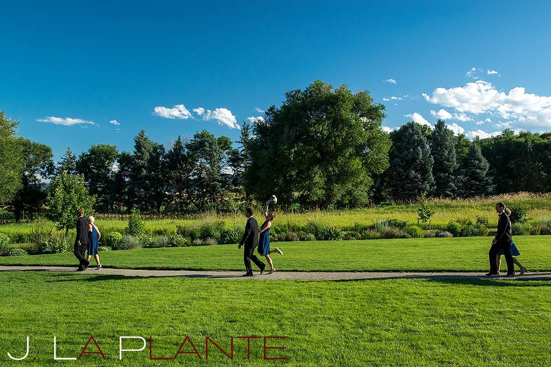 J. La Plante Photo   Denver Wedding Photography   Chatfield Botanic Gardens wedding   Bridal party after ceremony