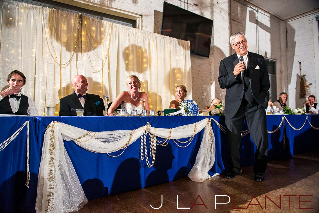 J. La Plante Photo | Denver Wedding Photography | Chatfield Botanic Gardens wedding | Toasts
