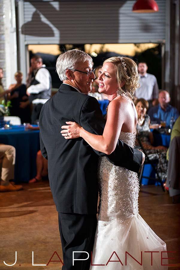 J. La Plante Photo | Denver Wedding Photography | Chatfield Botanic Gardens wedding | Bride dancing with father
