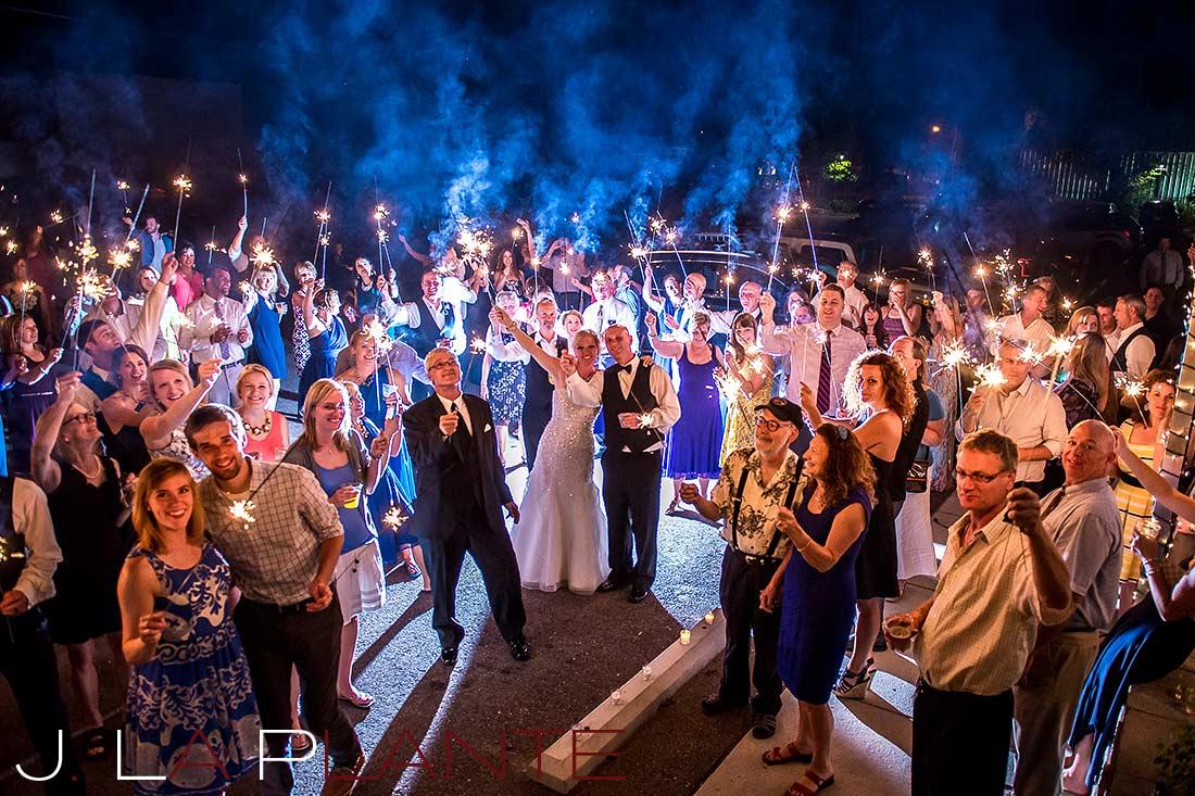 J. La Plante Photo | Denver Wedding Photography | Chatfield Botanic Gardens wedding | Sparkler sendoff