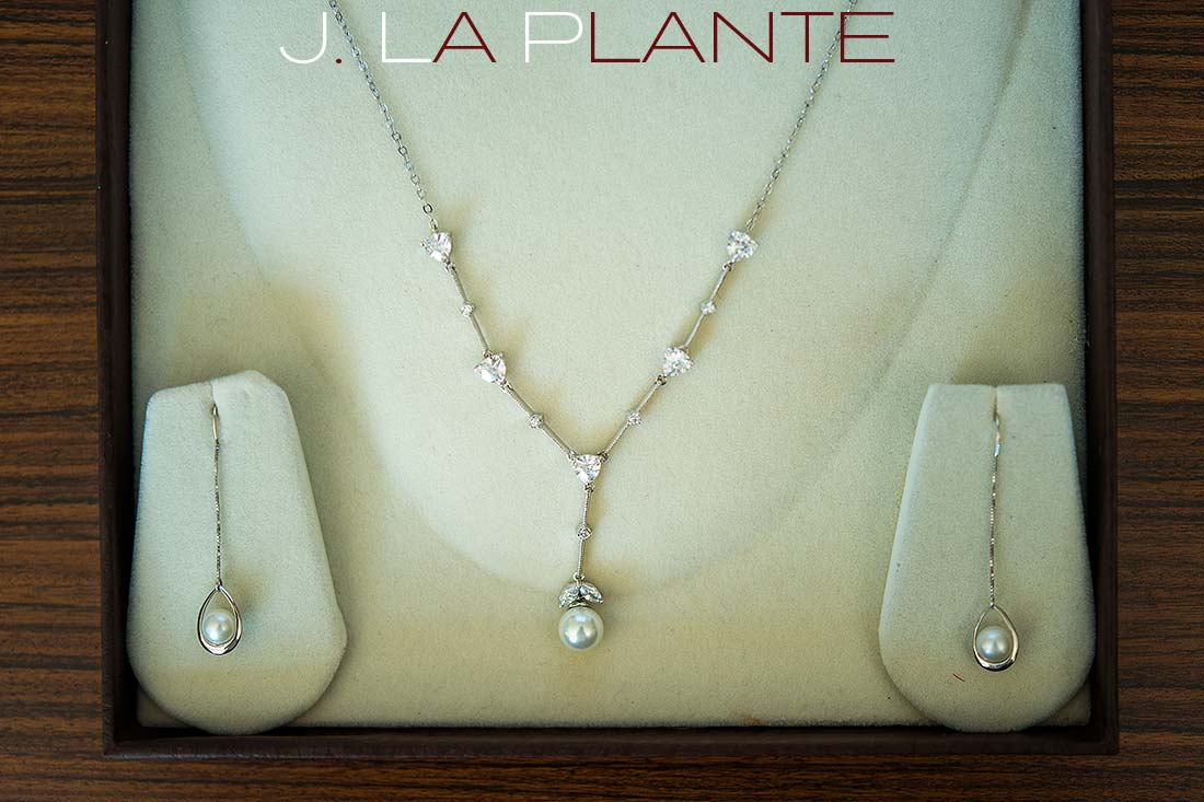 J. La Plante Photo   Denver Wedding Photography   Wildlife Experience wedding   Earrings and necklace