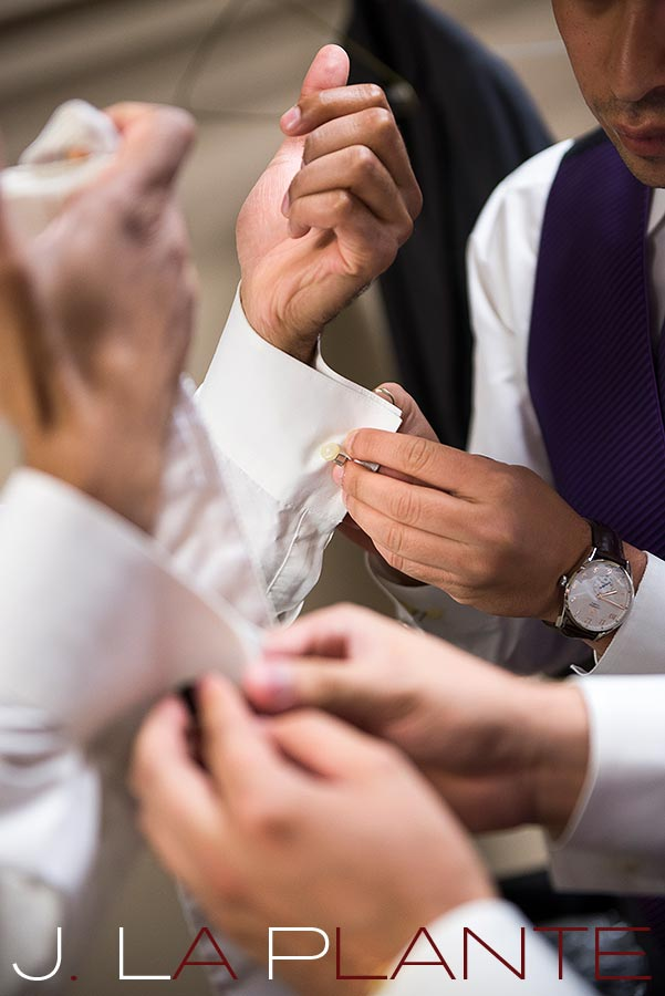 J. La Plante Photo | Denver Wedding Photography | Wildlife Experience wedding | Groom's cufflinks