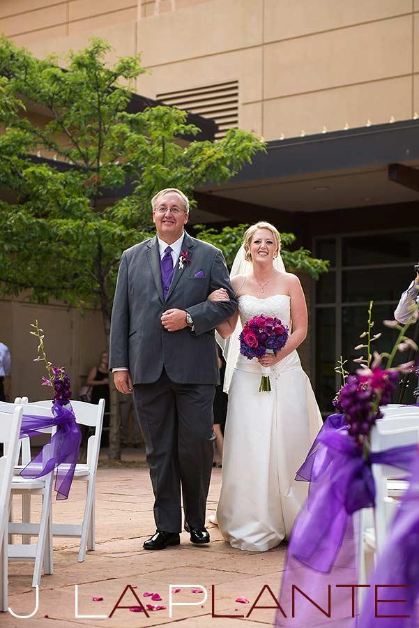 J. La Plante Photo | Denver Wedding Photography | Wildlife Experience wedding | Father walking bride down aisle