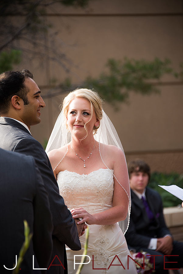 J. La Plante Photo | Denver Wedding Photography | Wildlife Experience wedding | Bride and groom saying vows