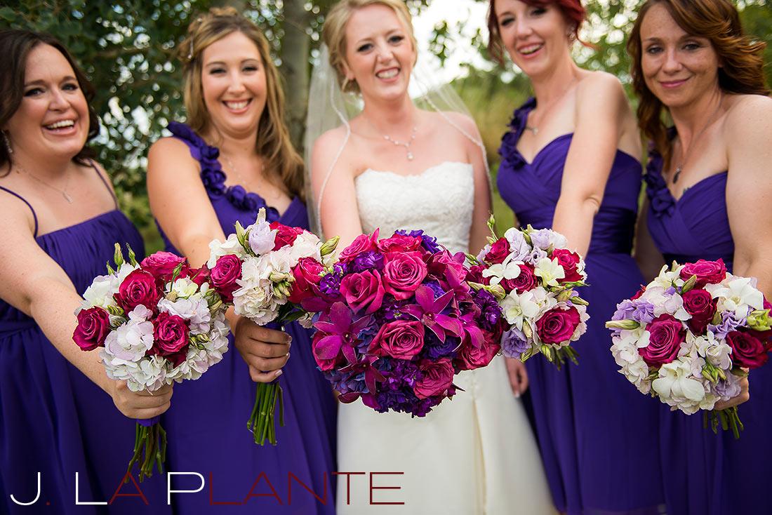 J. La Plante Photo | Denver Wedding Photography | Wildlife Experience wedding | Bridesmaids' flowers
