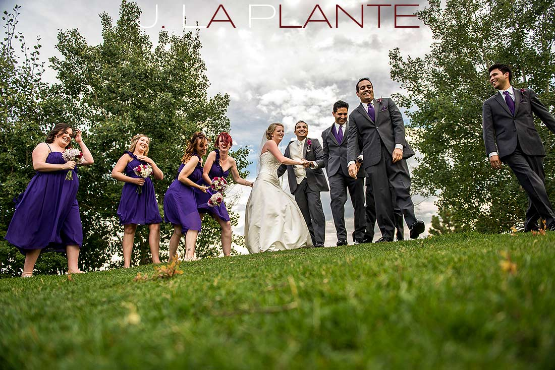 J. La Plante Photo | Denver Wedding Photography | Wildlife Experience wedding | Wedding party having fun