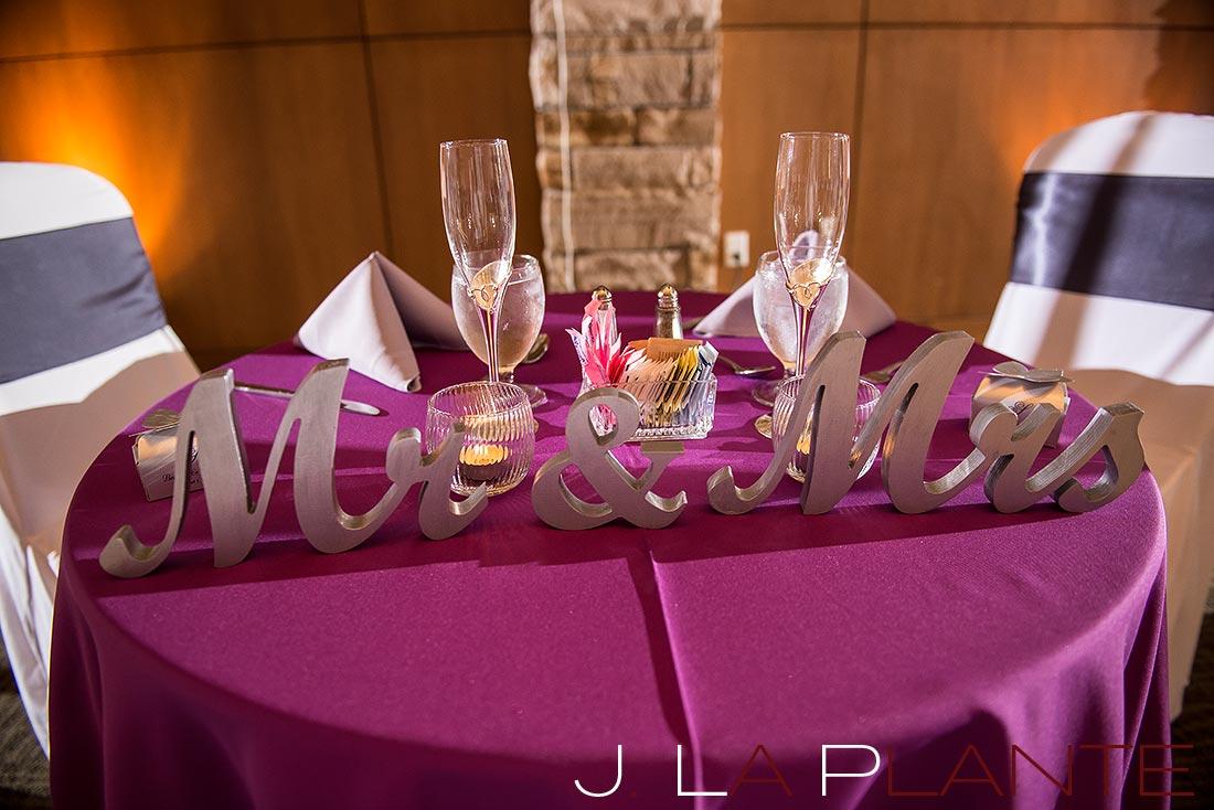 J. La Plante Photo | Denver Wedding Photography | Wildlife Experience wedding | Sweetheart table