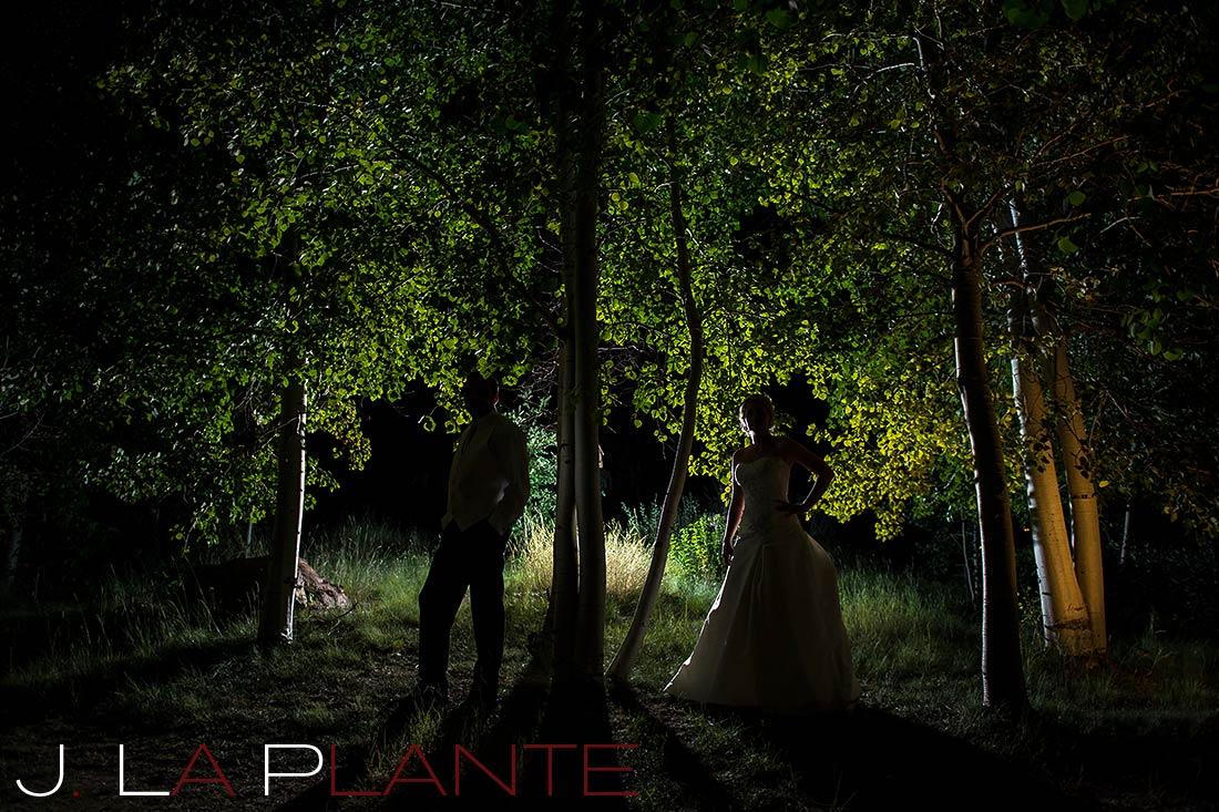 J. La Plante Photo | Denver Wedding Photography | Wildlife Experience wedding | Bride and groom at night