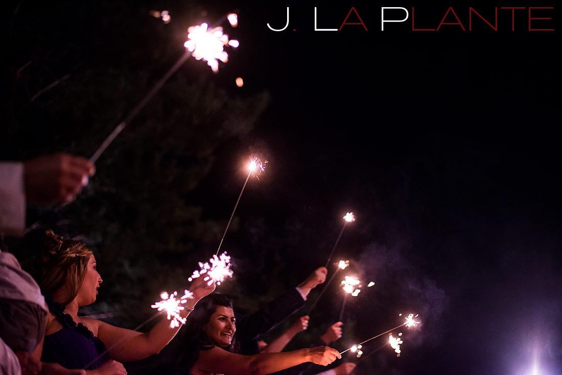 J. La Plante Photo | Denver Wedding Photography | Wildlife Experience wedding | Sparkler sendoff
