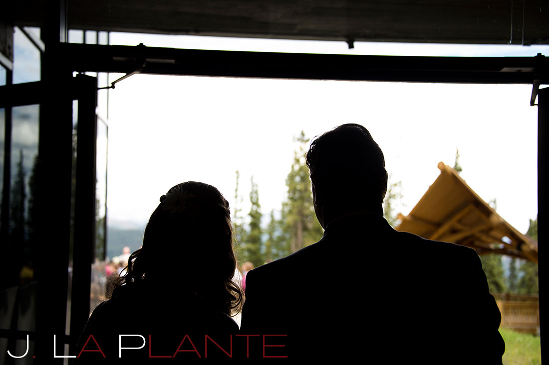J. La Plante Photo | Colorado Rocky Mountain Wedding Photography | Copper Mountain wedding | Father walking bride down aisle