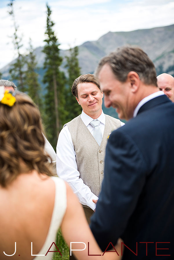 J. La Plante Photo | Colorado Rocky Mountain Wedding Photography | Copper Mountain wedding | Father giving away bride