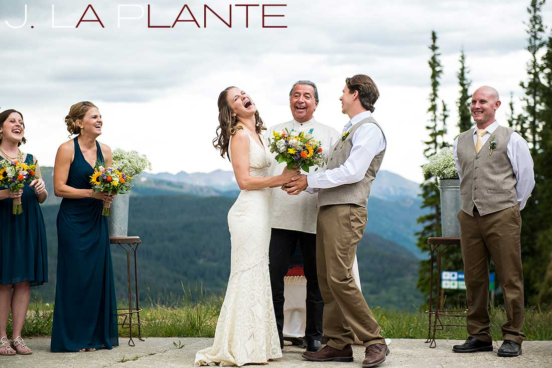 J. La Plante Photo | Colorado Rocky Mountain Wedding Photography | Copper Mountain wedding | Bride and groom during ceremony