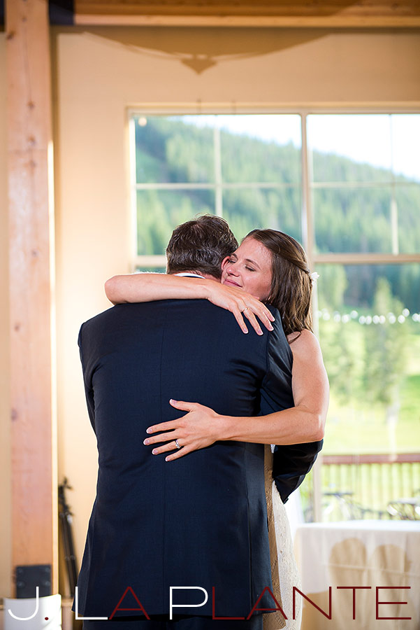 J. La Plante Photo | Colorado Rocky Mountain Wedding Photography | Copper Mountain wedding | Father of bride dance