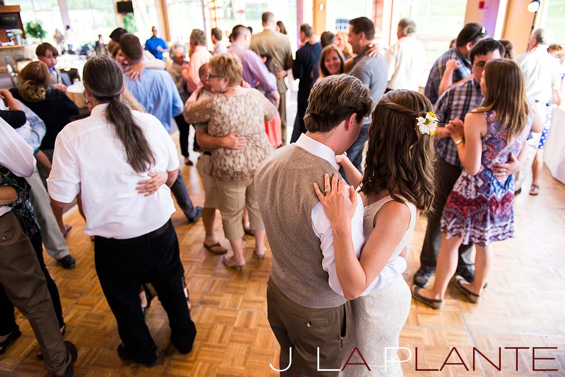 J. La Plante Photo | Colorado Rocky Mountain Wedding Photography | Copper Mountain wedding | Guests dancing