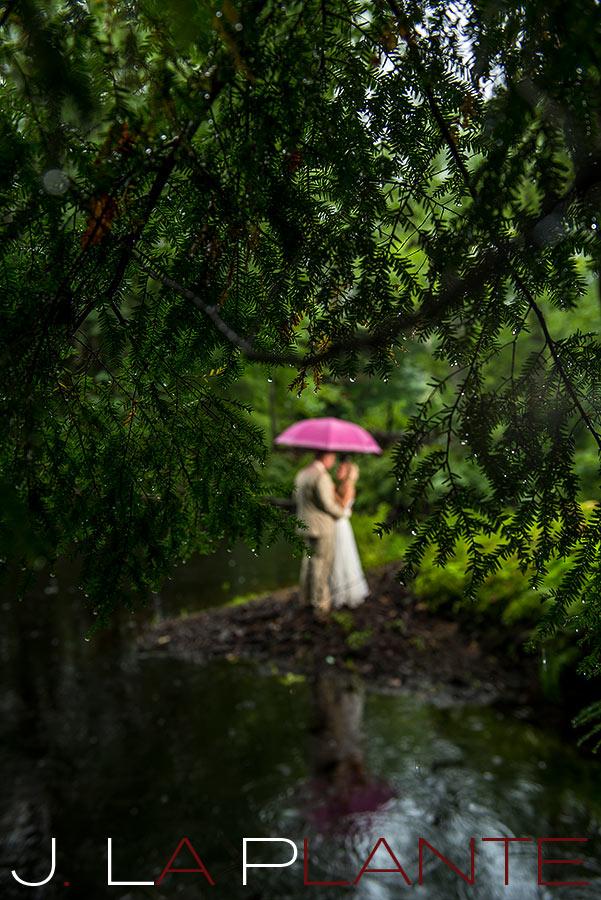 J. La Plante Photo | Destination Wedding Photography | Ogunquit Maine Wedding | Beautiful photo of newlyweds in rain