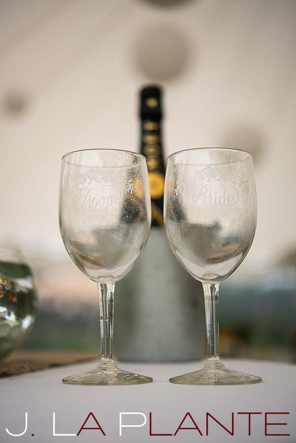 J. La Plante Photo | Destination Wedding Photography | Ogunquit Maine Wedding | Bride and groom wine glasses
