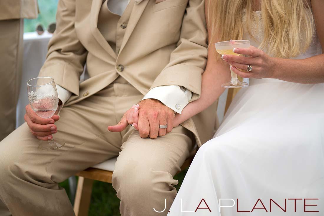 J. La Plante Photo | Destination Wedding Photography | Ogunquit Maine Wedding | Bride and groom holding hands