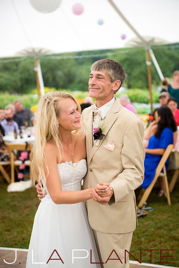 J. La Plante Photo | Destination Wedding Photography | Ogunquit Maine Wedding | Father of the bride dance
